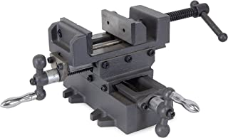 """WEN 413CV 3.25"""" Compound Cross Slide Industrial Strength Benchtop and Drill Press Vise"""