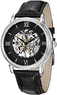 Stuhrling Original Men's 458G2.33151SET Classic Delphi Chamberlain Skeleton Black Dial Watch Set