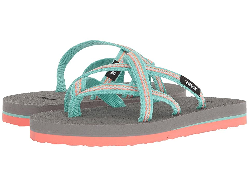 Teva Kids Olowahu (Little Kid) (Lindi Sea Glass/Coral) Girls Shoes