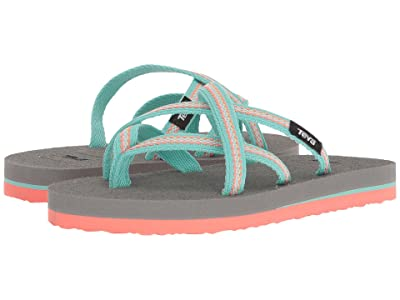 Teva Kids Olowahu (Little Kid) (Lindi Sea Glass/Coral) Girls Shoes