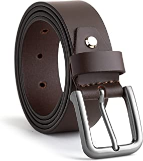SKENZBI® Leather Belt For Men - Leather Men's Belt 35MM Wide - Best for Jeans, Trousers, Formal, Casual, Cowboy & Work Wea...
