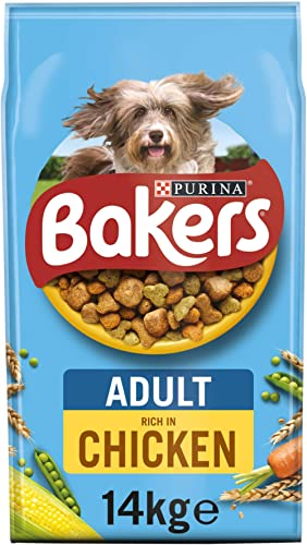 Bakers Adult Dry Dog Food Chicken and Veg 14kg product image