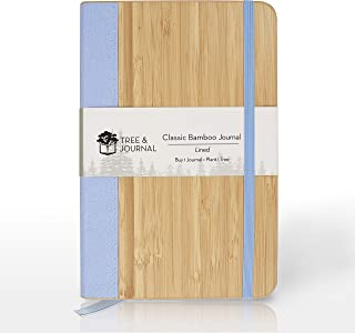 Eco Friendly Journal, Handmade College Ruled Notebook (5x8 in) with Natural Wood Cover & Fountain Pen Friendly Paper. FSC ...