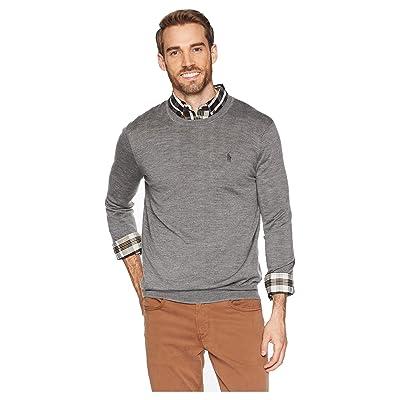 Polo Ralph Lauren Washable Merino Crew Neck Sweater (Fawn Grey Heather) Men