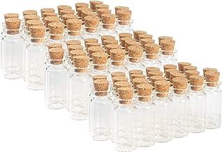 زجاجات زجاجية مزخرفة ماجيك سيزون (72 قطعة مع سدادة فلين 3. 75 أونصة/0 بوصة عمق/2 بوصة ارتفاعًا)