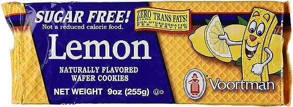 Voortman, Sugar Free, Lemon Wafers, 9oz Bag (Pack of 4)