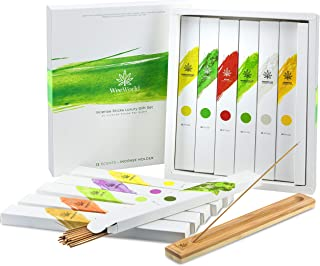 WeeWorld Incense Sticks Luxury Gift Set - 12 Scent Variety Pack - Long Lasting Premium Incense Sticks with Wooden Holder P...
