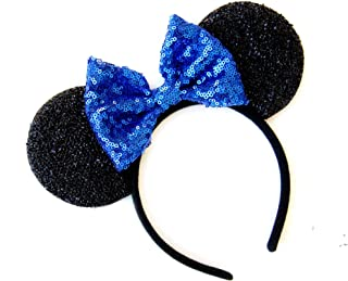 CLGIFT CL Gift Blue Mickey Ears, Rainbow Minnie Mouse Ears, Sparkly Minnie Ears, Mouse Ears, Electrical Parade Ears,