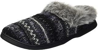Women's Knit Clog Slipper, Black, S Regular US