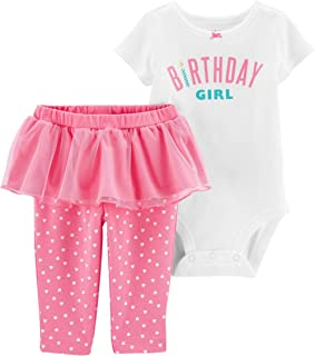 Girls' 2-Piece Birthday Girl Bodysuit and Tutu Pant Set