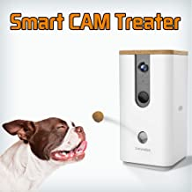 Dogness Pet Treat Dispenser with Camera, Monitor Your Pet Remotely with HD Video, Two-Way Audio, Night Vision, for Dogs and Cats