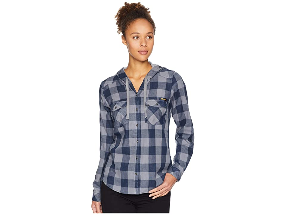 Columbia Collegiate Times Twotm Hooded Long Sleeve Shirt (UM/Collegiate Navy Check) Women