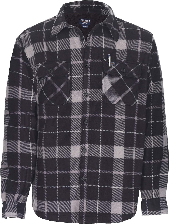 Smith's Workwear Men's Plaid Microfleece Shirt Jacket