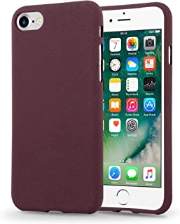 Cadorabo Case Works with Apple iPhone 7 / iPhone 7S / iPhone 8 in Frost Bordeaux Purple – Shockproof and Scratch Resistant TPU Silicone Cover – Ultra Slim Protective Gel Shell Bumper Back Skin