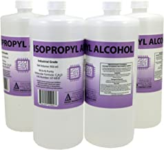 4 x 950ml Bottles of 99.9+% Pure Isopropyl Alcohol Industrial Grade IPA Concentrated Rubbing Alcohol 1 Gallon Total