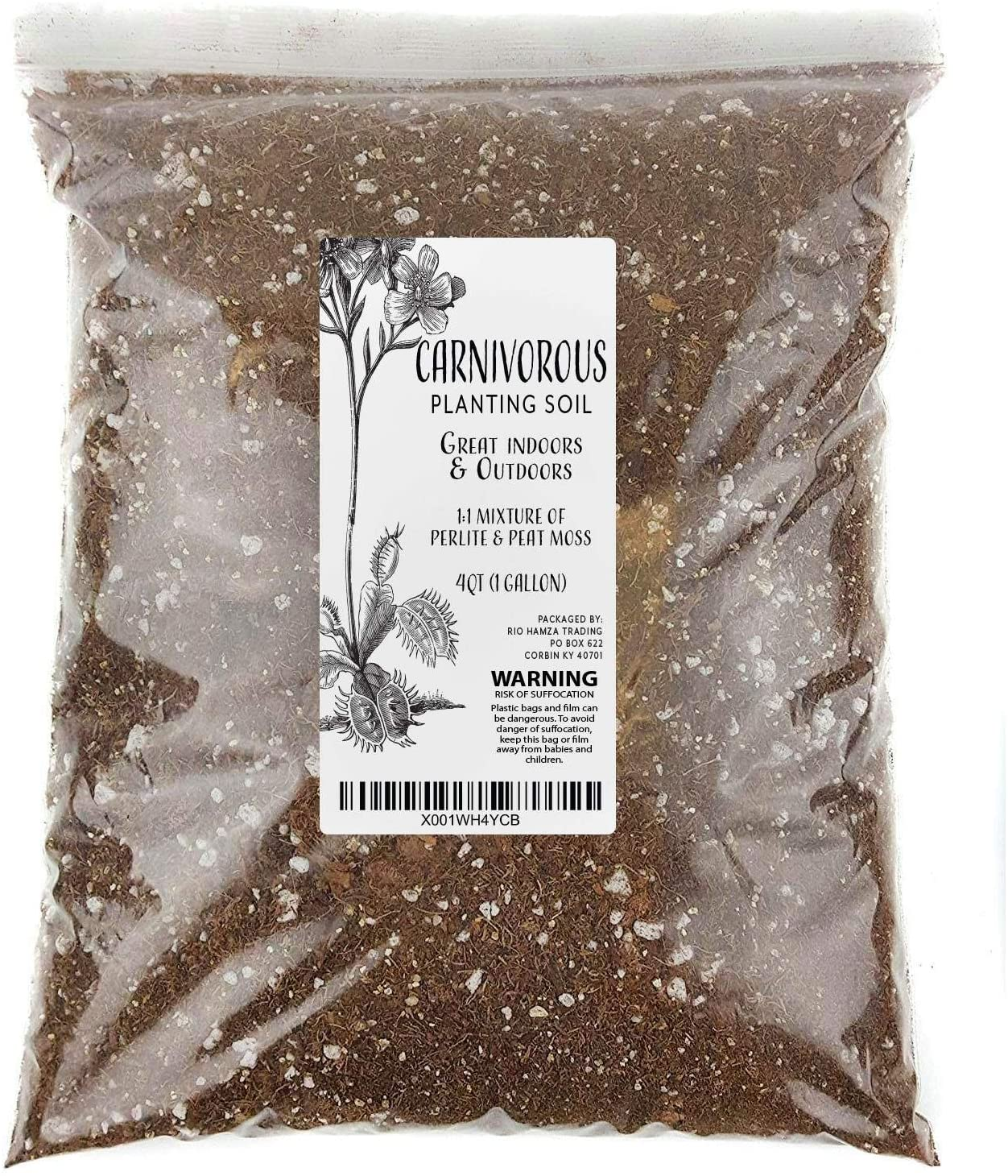 Carnivorous Plant Soil Mix One Gallon Ingre Special sale item Natural XL Bag All Max 74% OFF