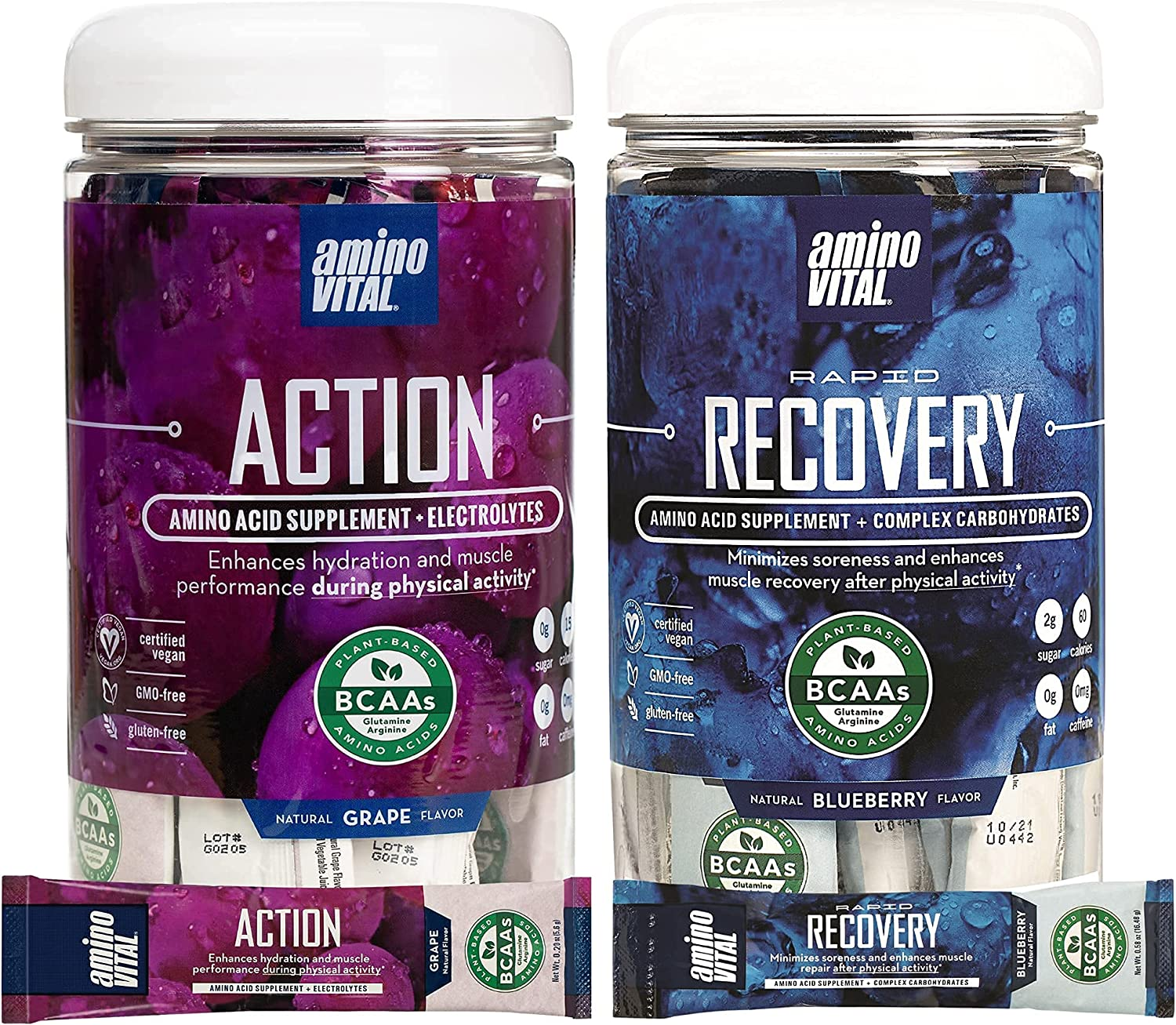 Amino Gorgeous VITAL Action Rapid Recovery- BCAA Pre Acids Popular popular Po and