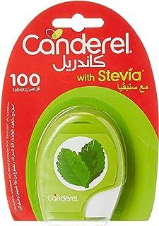Canderel With Stevia Sweetener Dispenser, 100 Tablets (Pack of 1)