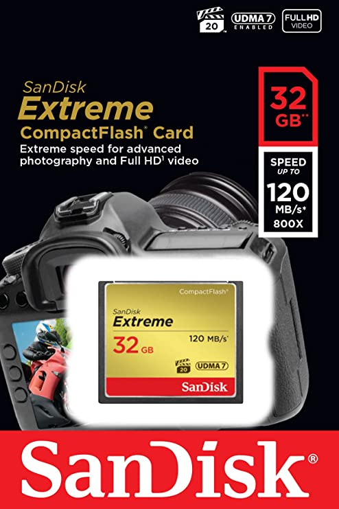 Sandisk Extreme Compactflash Udma7 32gb Up To 120 Mb S Memory Card