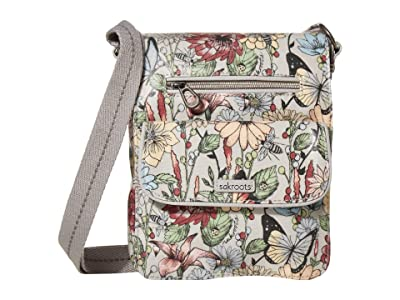 Sakroots Artist Circle Small Flap Messenger (Blush in Bloom) Cross Body Handbags