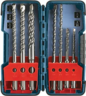 Bosch 7 Piece Carbide-Tipped SDS-plus Rotary Hammer Drill Bit Set with Storage Case HCK001