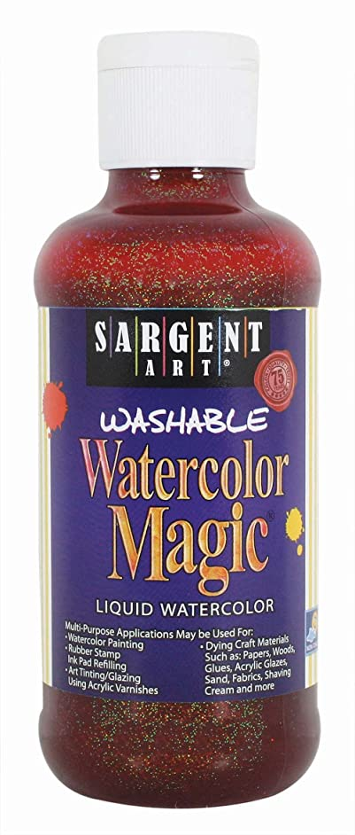 Sargent Art 22-9014 8-Ounce Glitter Watercolor Magic, Orange