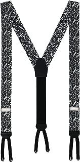 Men's Men's Formal Scrolling Vines Silk 35MM Braces (Suspenders)