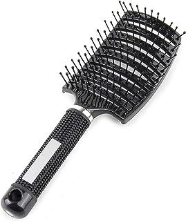 برس های مخصوص ماساژ آرایشگاه آرایشگری آرایشگر موی تهویه حرفه ای ، برس های ماساژ خشک کن سریع مو (سیاه)