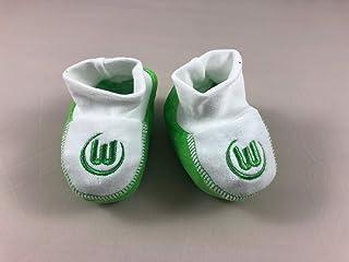 Niedliche VfL Wolfsburg Babyschuhe in grau für die kleinen Fans von morgen.