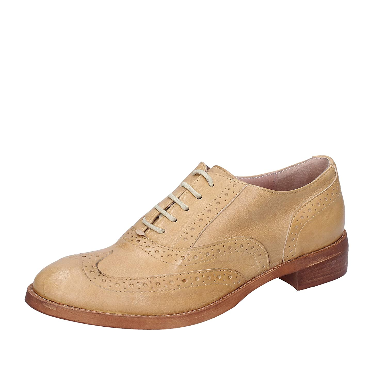 [Crown] 古典的な女性の靴 レディース レザー ベージュ
