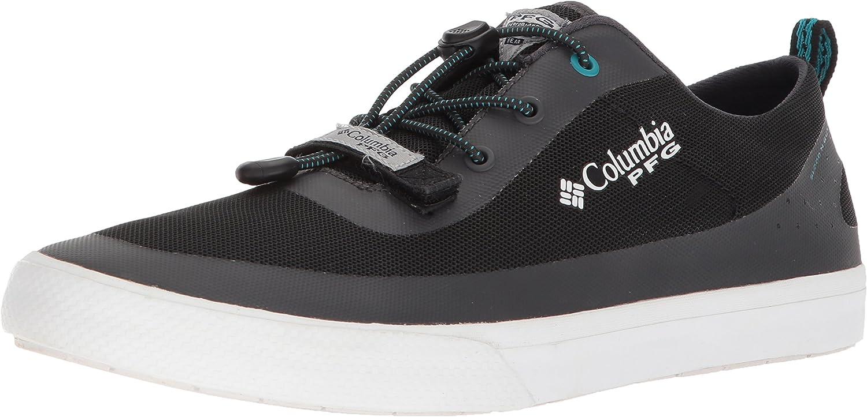 Columbia Men's Dorado CVO PFG Sneaker, Black, Emerald Sea, 7.5 D (M) US