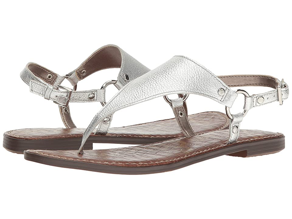 38b9d570cffd  100.00 More Details · Sam Edelman Greta (Soft Silver Tumbled Opal Metallic  Leather) Women s Sandals