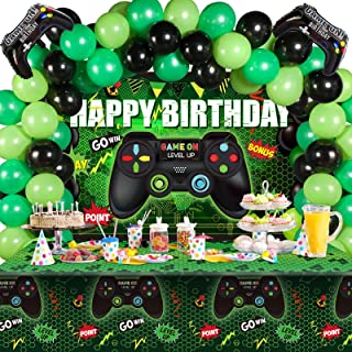 Sponsored Ad - Video Game Birthday Party Decorations Set Gaming Happy Birthday Supplies Includes Video Game Backdrop, Tabl...
