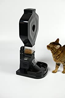 Super Feeder Automatic Cat Feeder, CSF-3XL, Large Hopper, Digital Timer, Chute Cover, Stand/Bowl. Up to 8 Daily Meals-(Approximately 5 lbs Food)