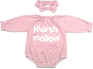 Baby-Girls Ruffled Collar Bodysuits Lovely Headband Set Pink