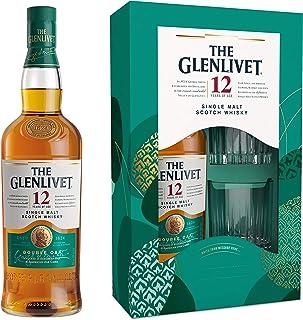 Glenlivet 12 Jahre mit Geschenkverpackung und 2 Gläsern Whisky 1 x 0.7 l