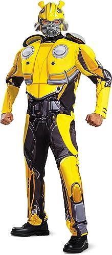Ahorre 35% - 70% de descuento Disguise Bumblebee Bumblebee Bumblebee Movie Adult Bumblebee Muscle Fancy Dress Costume X-Large  bajo precio del 40%