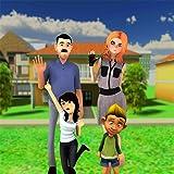 お父さんシミュレータ3Dゲーム:ベビーケアモダンファミリー