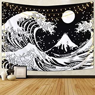 Best sun moon and waves tapestry Reviews