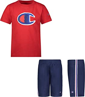 Champion Boys 2 Piece Photoreal Short Sleeve Tee Shirt and Mesh Short Set Kids Clothes