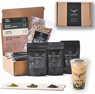 Locca Boba Tea Kit   24+ Bubble Teas   Premium Daily Joy Kit   Organic Matcha, Organic Earl Grey Lavender, Jasmine   Vegan...