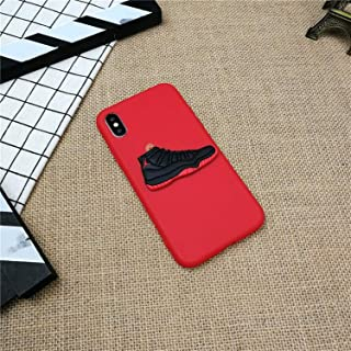 3D AIR Jordan - 11 Sports Shoes Phone Cover Case for iPhone X XS XR MAX 8 7 6 6S Plus 5 5s SE Matte Soft Silicone XS Coque Fundas - Red (for iPhone XR)