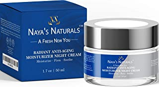 Anti Aging Moisturizer Night Cream Firms and Smooths to Reduce Fine Lines and Wrinkles and Even Skin Tone -Tightens Pores Without Skin Irritation or Redness (1.7 Oz)