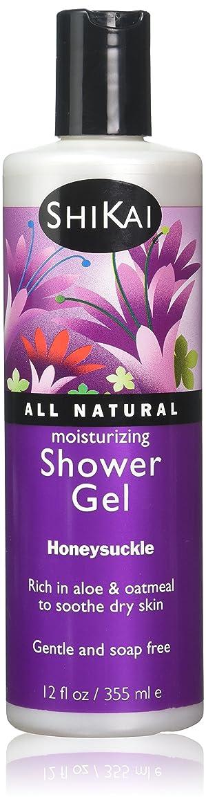 柔らかい素朴な耐久Shower Gel - Honeysuckle - 12 fl oz by Shikai Products