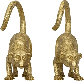 Creative Co-Op Gold Resin (Set of 2 Pieces) Monkey Bookends