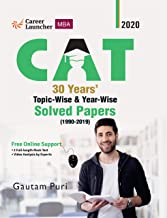 CAT 2020 : 30 Years' Topic-wise & Year-wise Solved Papers 1990-2019