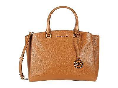 MICHAEL Michael Kors Maxine Medium Satchel (Acorn) Satchel Handbags