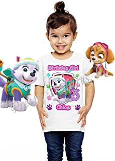 Girl Paw Patrol Birthday Shirt, Add Any Name and Age, Everest Birthday Shirt, Family Matching Shirt, Visit Our Shop