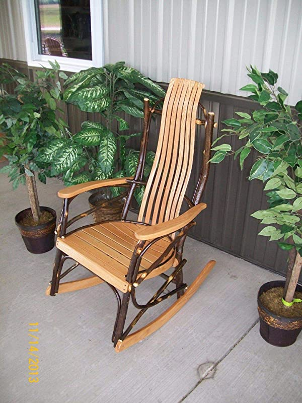 A L FURNITURE CO 7 Slat Hickory Rocking Chair