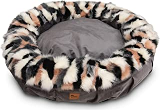 Superior Pet Goods Harley Superior Faux Fur and Velvet Dog Bed, Jumbo